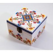 Cutie lemn decorata - folk - 7404