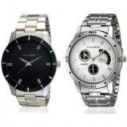 Invaders Stainless Steel Combo INV-LBRL-BRAGWHT Mens Round Dial Watches