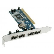 Schede Di Espansione USB 2.0 Aggiuntiva 4X Porte Esterne1X Porta Interna Type-A Femmina 32-Bit PCI Busvia Chip Vt6212