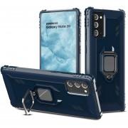 Para Samsung Galaxy Note 20 Funda protectora de fibra de carbono