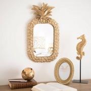 Maisons du monde Specchio ananas dorato, 28x50