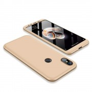 GKK 360 Protection telefon tok hátlap tok Első és hátsó tok telefon tok hátlap az egész testet fedő Xiaomi Mi A2 / Mi 6X arany