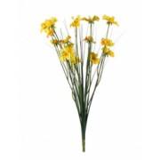 Planta artificiala decorativa cu frunze verzi si flori galbene lungime 40 cm Topi Toy