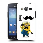 Husa Samsung Galaxy Core 4G LTE G386F Silicon Gel Tpu Model Minion Mustache