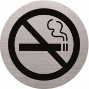 Információs tábla, rozsdamentes acél, HELIT, tilos a dohányzás (INH6271500)