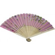 New Jaipur Handicraft Hukum Mere Aaka Foldable Floral Print Pink Hand Fan(Pack of 5)
