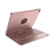 F180 Aluminum Alloy 360 Degree Rotation Bluetooth Keyboard for iPad 9.7 (2018)/9.7 (2017)/Pro 9.7 inch (2016)/Air 2/Air - Rose Gold