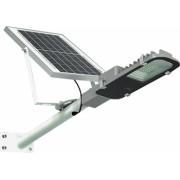 Lampa solara stradala de 60W 60 LED SMD cu panou solar brat montare si telecomanda cu functii multiple