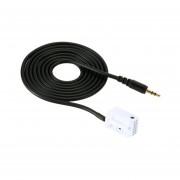 YKT-AB058 Coche Macho Cable Aux Teléfono Cable De Entrada De Audio Para Mercedes Benz Para -en Blanco Y Negro