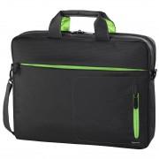 "Torba za laptop Hama MARSEILLE 15,6"", crno/zelena 101284"