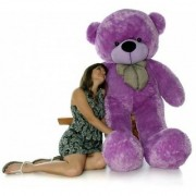 5 feet Purple Huggable And Loveable For Someone Special Teddy Bear