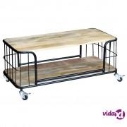 vidaXL Stol za Kavu Masivno Mango Drvo 100x50x35 cm