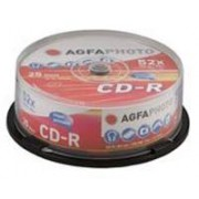 AgfaPhoto CD-R 80min 52x Speed, Cakebox 25-pack
