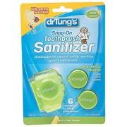DR TUNG'S PRODUCTS DR TUNGS Protector de cepillo para polvo de dientes a presión, 4 unidades