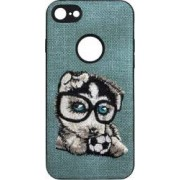 Skin iPhone 6/6S Lemontti Embroidery Gray Puppy
