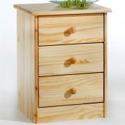 IDIMEX Table de chevet en pin RONDO, vernis naturel