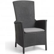 Allibert Cadeira de jardim reclinável Vermont Graphite 238452