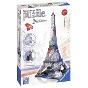 Ravensburger 3D Puzzles Eiffel Tower Flag Edition, Multi Color (216 Pieces)