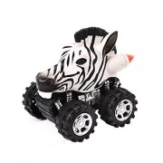 Aobiny Pull Back Vehicles, Mini Vehicle Pull Back Animal Cars Big Tire Wheel Creative Gifts Kids Toddlers Boys Child, Pull Back Go Car Toy Play Set (C)