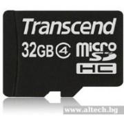 Micro SD Card, 32GB, Transcend MICRO, Class4 (TS32GUSDC4)