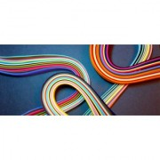 1000 Strips of Multicolor Quilling Paper (10 Pockets Different sizes)