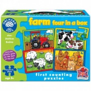 Set 4 Puzzle La ferma FARM FOUR IN A BOX