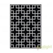 Covor design LUX din lana realizat manual, Caton 170x240cm negru/ alb 108523 HZ