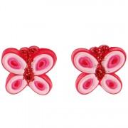 Meisjes oorbellen rode vlinders