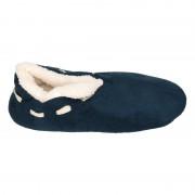 Apollo Jongens Spaanse sloffen/pantoffels navy blauw maat 35-36