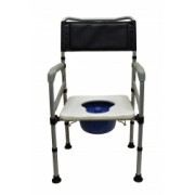 Scaun cu WC de camera pliabil din otel cod CMB-692-1