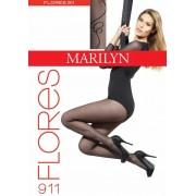 Marilyn - Subtle patterned tights Flores 20 DEN