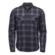 Black Diamond M Ls Benchmark Shirt - Black-Anthracite-Carbon Plaid - Shirts L
