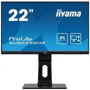 "IIYAMA ProLite XUB2292HS-B1 - LED-monitor - 22"" (21.5"" zichtbaar) - 1920 x 1080 Full HD (1080p) - IPS - 250 cd/m² - 1000:1"