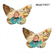 Magnet Botez Personalizat Fluture