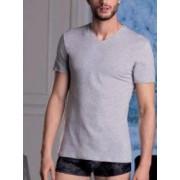 Cotonella Хлопковая мужская футболка с V-образным вырезом серого цвета Cotonella AU191 светло-серый (grigio chiaro)