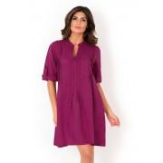 Дамска ленена лятна рокля David Beachwear Fuksia 05