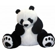 Giant 7 Feet Big Fat Papa Panda Teddy Bear Soft Toy with Embroidered Paws