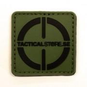 Tacticalstore PVC Patch 4x4cm - Grön/Svart