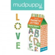 Mudpuppy Zestaw drewnianych magnesów we wzorki Litery 40 elementów