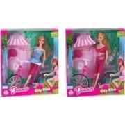 Papusa cu bicicleta Donna