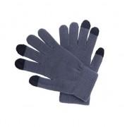 Merkloos Touchscreen handschoenen grijs voor volwassenen