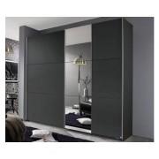 ASKO - NÁBYTEK Šatní skříň Kronach, 175 cm, šedá/zrcadlo