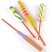 Baker Ross Paper Sword Flickers - 12 Sword Flickers In 2 Assorted Designs. Party Bag Fillers For Kids. Size 20cm.