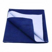 Glassiano Waterproof Baby Bed Protector Dry Sheet (70x50 CM) Small Size Royal Blue