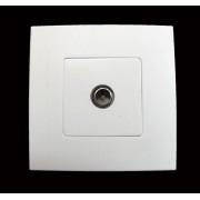 HBF zásuvka TV bílá CLARYS (230170)