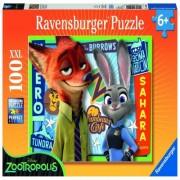 Puzzle zootopia, 100 piese Ravensburger