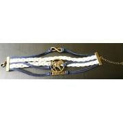 Éhezők viadala kék-fehér karkötő