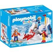 Playmobil - Family Fun - Sneeuwballengevecht 9283