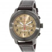 Emporio Armani Mens Sportivo AR6055 Gunmetal Leather Quartz Watch