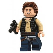LEGO Star Wars Minifigure from Death Star - Han Solo Wavy Hair with Blaster (75159)